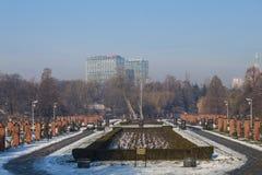 Bucharest in winter Stock Image