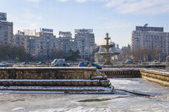 Bucharest in winter Royalty Free Stock Image