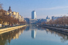 Bucharest in winter Royalty Free Stock Photo