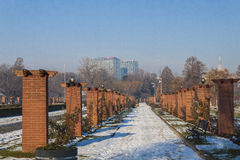 Bucharest in winter Royalty Free Stock Images