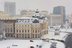 Bucharest in a winter day Stock Image