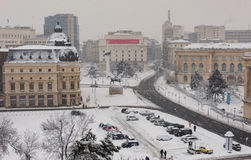 Bucharest in a winter day Stock Photos