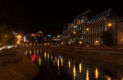 Bucharest życie nocne Obraz Royalty Free