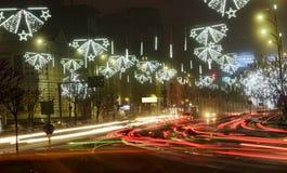 Bucharest życie nocne Fotografia Stock