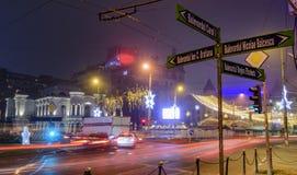 Bucharest życie nocne Fotografia Royalty Free