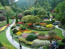 Buchart arbeitet Victoria BC im Garten Stockfotos