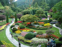 Buchart Gardens Victoria BC Stock Photos