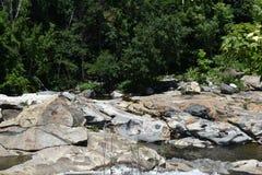 Buche glaciali, cadute di Shelburne, Franklin County, Massacusetts, Stati Uniti, U.S.A. immagine stock libera da diritti