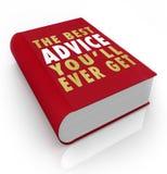 Bucheinband-bester Rat, den Sie überhaupt erhalten Stockbild
