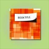 Bucheinband-Papierfalteneffekt-Zusammenfassungsorange Stockfoto