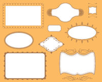 Bucheinband-Platten-Felder eingestellt Stockfoto