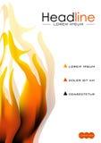 Bucheinbanddesign mit Feuerflammen Vektor Stockbilder