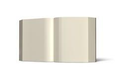 Buchen Sie die Öffnung, die im weißen Hintergrund, Wiedergabe 3D lokalisiert wird Stockbilder