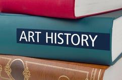 Buchen Sie mit dem Titel Art History, der auf den Dorn geschrieben wird lizenzfreie stockbilder