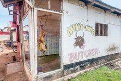 Bucher shoppar i Bukoba, Tanzania, Afrika Royaltyfria Bilder