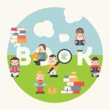Buchfestival angemessen vektor abbildung