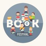 Buchfestival angemessen lizenzfreie abbildung