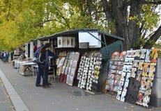 Buchhändler auf dem Seine in Paris Stockbild