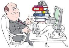 Buchhalter, der mit Internet-Service arbeitet lizenzfreie abbildung