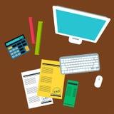 Buchhalter-Vector-Illustration Stockbilder