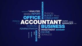 BuchhalterGeschäftslokal-Geschäftsmann-Kundensachbearbeiter-Finanzberufsschreibarbeits-Erfolgstaschenrechner belebt lizenzfreie abbildung