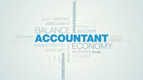 Buchhalterwirtschaftsbalancenbesteuert Berufsbüroberater-Budgetschreibarbeit erklärendes lebhaftes Wort des Geschäftsmannes stock abbildung