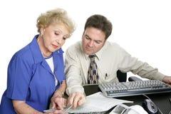 Buchhaltung-Serie - ältere Frau Lizenzfreies Stockfoto