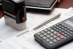 Buchhaltung-Tabellen-Einstellung Lizenzfreie Stockbilder