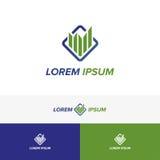 Buchhaltung und Geschäfts-Logo Lizenzfreie Stockfotografie
