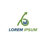 Buchhaltung und Geschäfts-Logo Lizenzfreie Stockfotos
