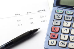 Buchhaltung und Steuer Lizenzfreies Stockfoto