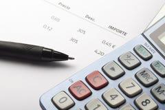 Buchhaltung und Steuer Lizenzfreies Stockbild