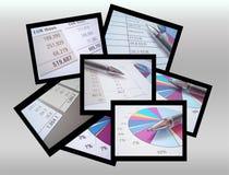 Buchhaltungcollage Stockfoto