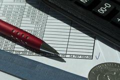 Buchhaltungdokument Lizenzfreies Stockbild