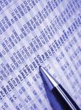 Buchhaltungreport Lizenzfreie Stockfotos