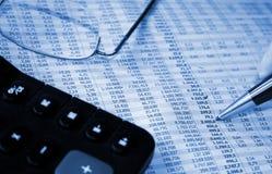 Buchhaltungreport Stockfotos