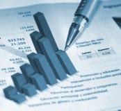 Buchhaltungreport Stockfoto