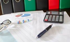 Buchhaltungsdesktop Stockbild