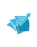 Buchhaltungspfeil-Betriebsversicherungszusammenfassung stock abbildung
