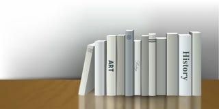 Buchhandlung Innen Realistische Illustration des Vektors 3D Weißes, graues Design Lizenzfreies Stockfoto