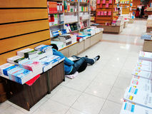 Buchhandlungen und Lagerschwellen Stockfotografie