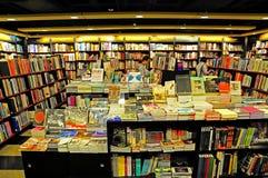 Buchhandlungsinnenraum Stockbild
