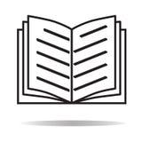 Buchikone auf weißem Hintergrund Buchzeichen Lizenzfreies Stockfoto