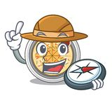 Buchimgae d'explorateur d'isolement avec dans la mascotte illustration libre de droits