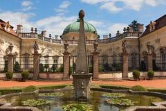 BUCHLOVICE, ЧЕХИЯ, 15-ОЕ ИЮЛЯ 2015: Замок Buchlovice Стоковое Фото