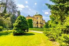 Buchlovice castle, Czech republic. Ancient heritage exterior built in baroque style. Famous tourist destination in South Moravia stock photography