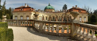 Buchlovice castle in Czech republic Royalty Free Stock Photography