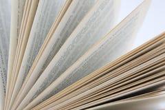 Buchnahaufnahme Lizenzfreies Stockbild
