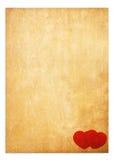 BuchpapierValentinsgrußhintergrund Stockbild