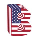 Buchstabe B des lateinischen Alphabetes USA-Flagge 3d Strukturierter Guss Stockbild